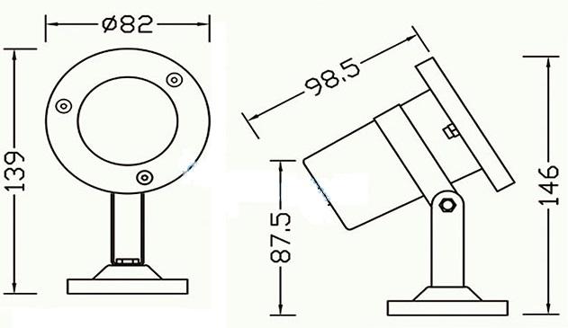 Подсветка для фонтана /пруда HQ-S03M светодиодная