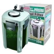 Фильтр аквариумный Jebao 104 Plus, для аквариумов 300-1000л, насос 2000л/ч, напор 3м, 50вт