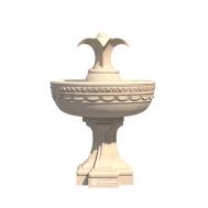 Элементы фонтана из декоративного бетона.