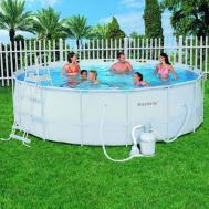 Каркасный бассейн Bestway 56464/56280 (549х132) с песочным фильтром