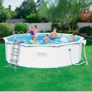 Каркасный бассейн Bestway 56257 с песочным фильтром (671x396x132)